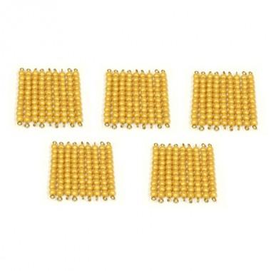 45 Barras de Dezenas de Contas Douradas sem Caixa