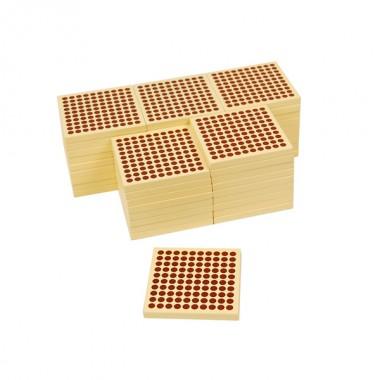 45 Quadrados de Madeira de 100 sem Bandeja