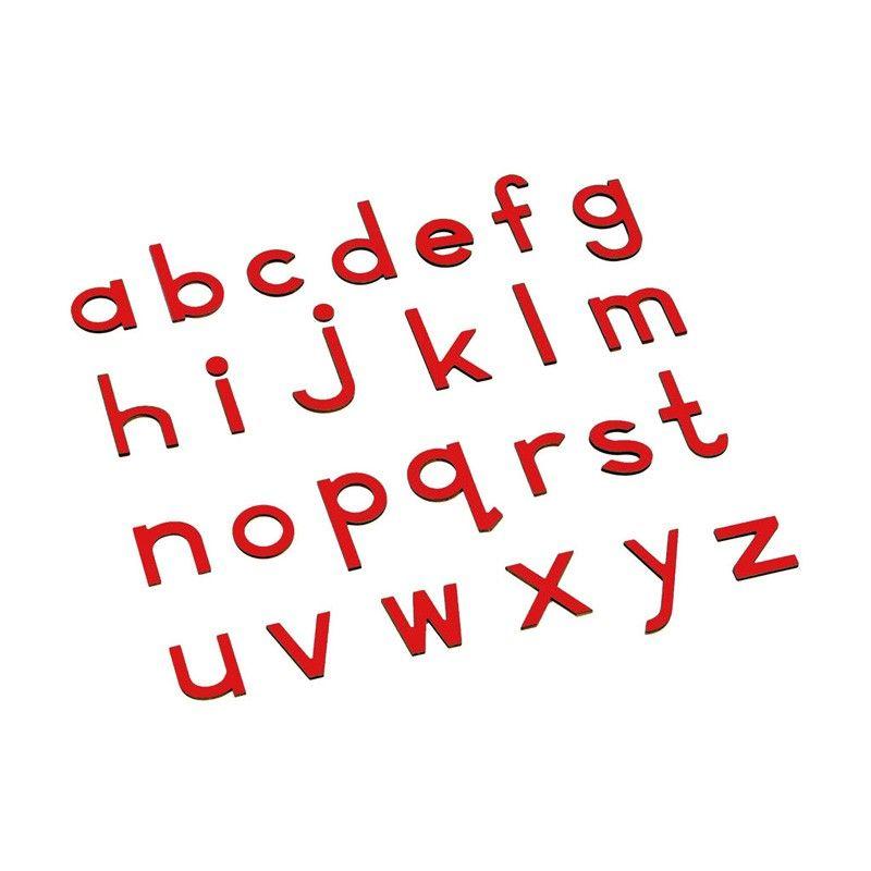 Alfabeto Móvel Bastão Pequeno sem Caixa - Vermelho