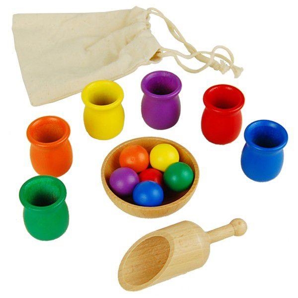 Bolas Coloridas e Copos