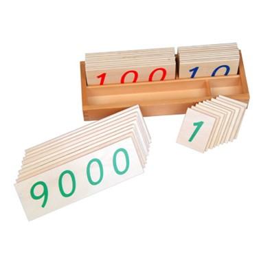 Caixa com Numerais em Cartões de Madeira (1-9000) Grande
