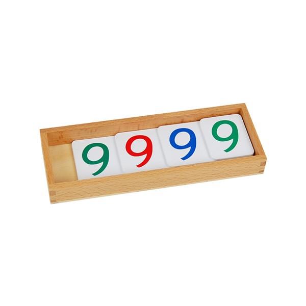 Caixa com Numerais em Cartões Plásticos (1-9000) Pequeno