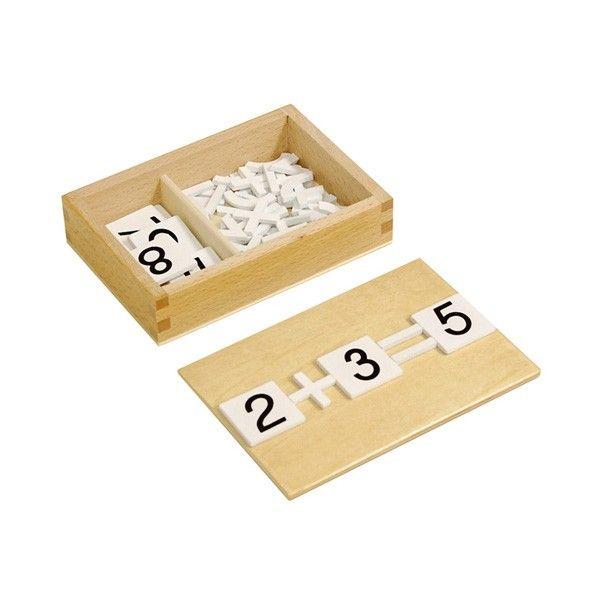 Caixa com Números e Sinais Aritméticos