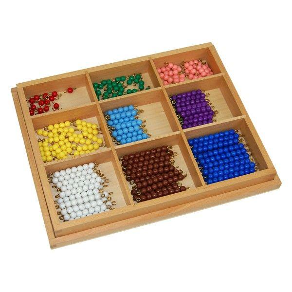 Caixa de Contas Coloridas para Tabuleiro de Quadrados