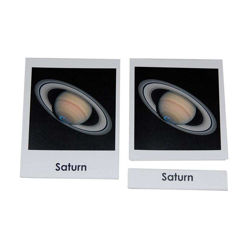 Cartões dos Planetas do Sistema Solar (em Inglês)