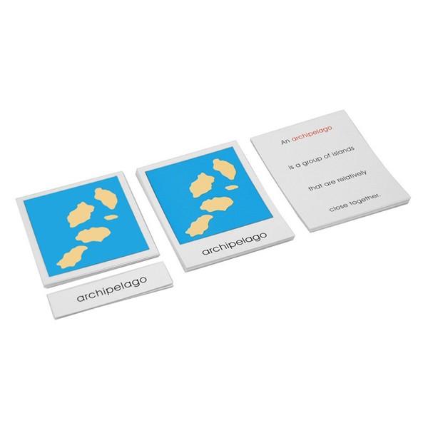 Conjunto de Cartões dos Acidentes Geográficos - Terra e Água (em Inglês)