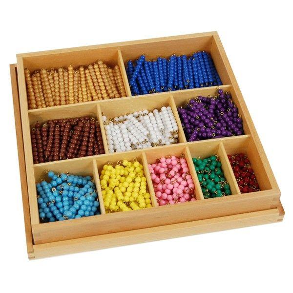 Contas Decanomiais - 55 Conjuntos de Contas Coloridas 1-10 com Caixa