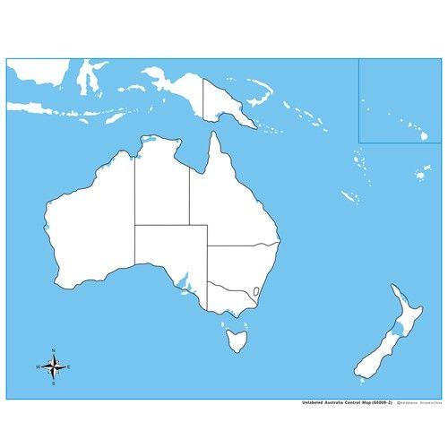 Controle para Mapa da Austrália sem Partes Nomeadas