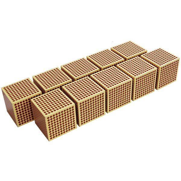 Cubo de Madeira de 1000: Conjunto de 10