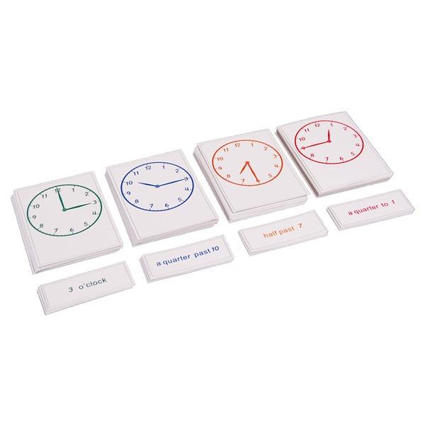 Exercício do Relógio - Cartões em Inglês