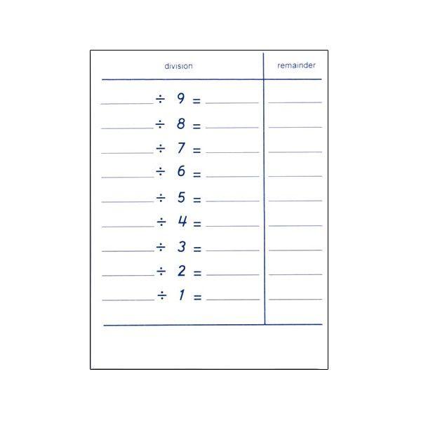 Folhetos de Tabelas de Divisão