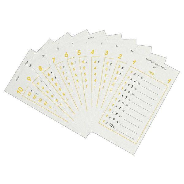 Folhetos de Tabelas de Multiplicação