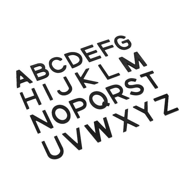 Letras Bastão Maiúsculas do Alfabeto Móvel Pequeno - Preto