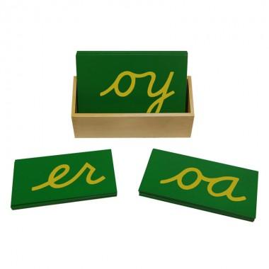 Letras Cursivas Minúsculas Duplas de Lixa com Caixa