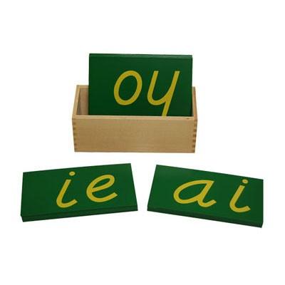 Letras D' Nealian Minúsculas Duplas de Lixa com Caixa
