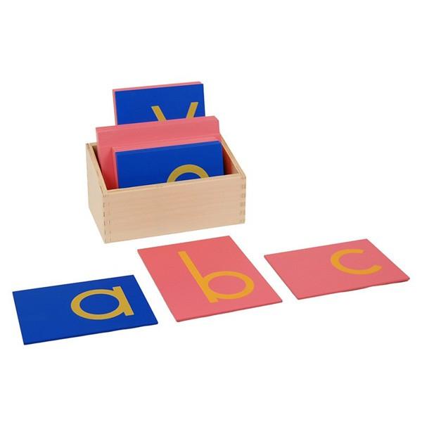 Letras Bastão Minúsculas de Lixa com Caixa