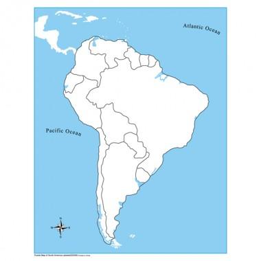 Controle para Mapa da América do Sul sem Partes Nomeadas