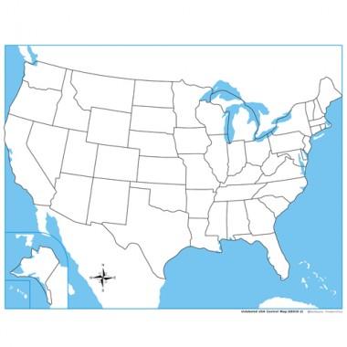 Controle para Mapa dos EUA sem Partes Nomeadas