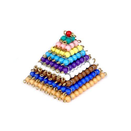 Pirâmide de Quadrados de Contas Coloridas
