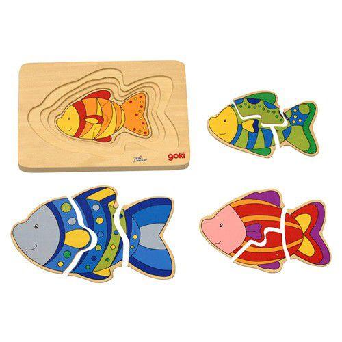 Quebra-Cabeça Família dos Peixes
