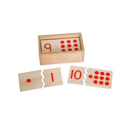 Quebra-Cabeças de Números e Quantidades 1 a 10