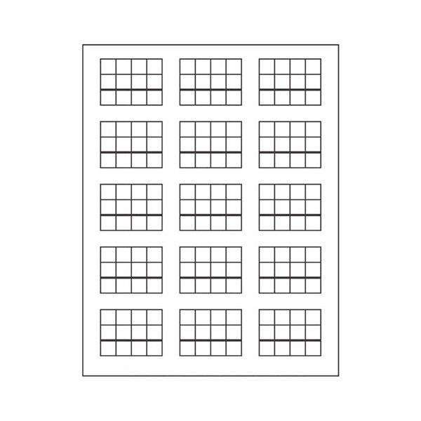 Tabela para Jogo dos Selos (15 Problemas)
