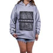 Blusa Feminina Moletom Estampada Estampa Censured