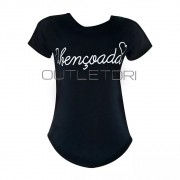Blusa Feminina T Shirt Curta Estampada  Abençoada