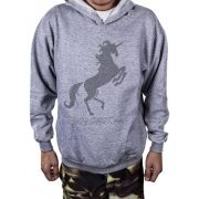 Blusa Moletom Estampa Estampado Fire Unicorn