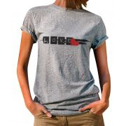 Blusa Outlet Dri T-Shirt Estampada Love Cinza