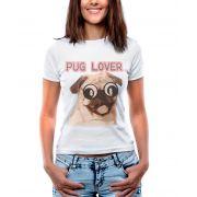 Blusa Outlet Dri T-Shirt Estampada Pug Branca