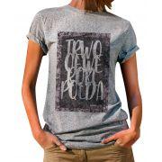 Blusa OutletDri T-Shirt Estampada Handwriting Board Cinza