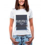Blusa OutletDri T-Shirt Estampada Perception Branca