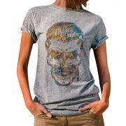 Blusa OutletDri T-Shirt Estampada Tuft Skull Cinza