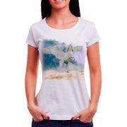 Blusa OutletDri T-Shirt Estampada Unicornio Na Nuvem Branca