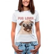 Blusa T-shirt Estampa Pug Lover