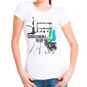 Blusa T-Shirt OutletDri Estampa ChildHooD Roller Branca