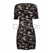 Vestido Camuflado Decote Decotado Ilhós Camuflagem Militar