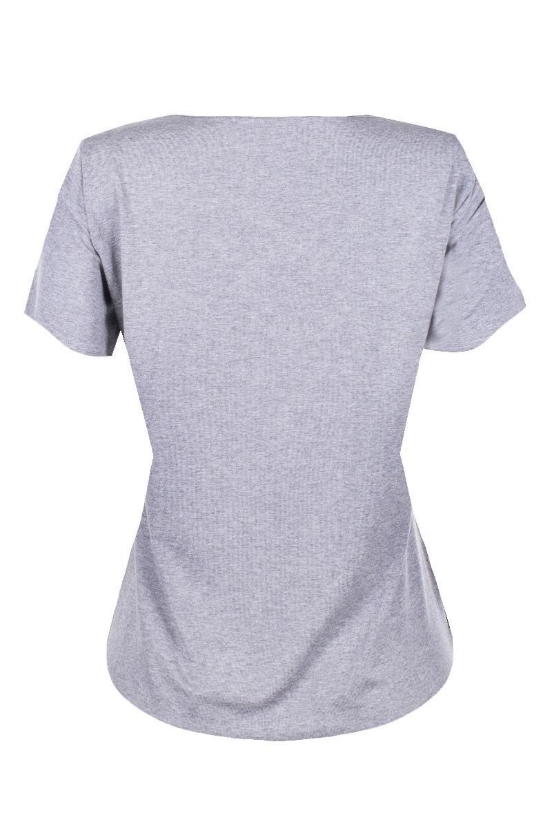 Blusa Básica Tshirt Manga Curta Decote Tirinhas Tiras Em X