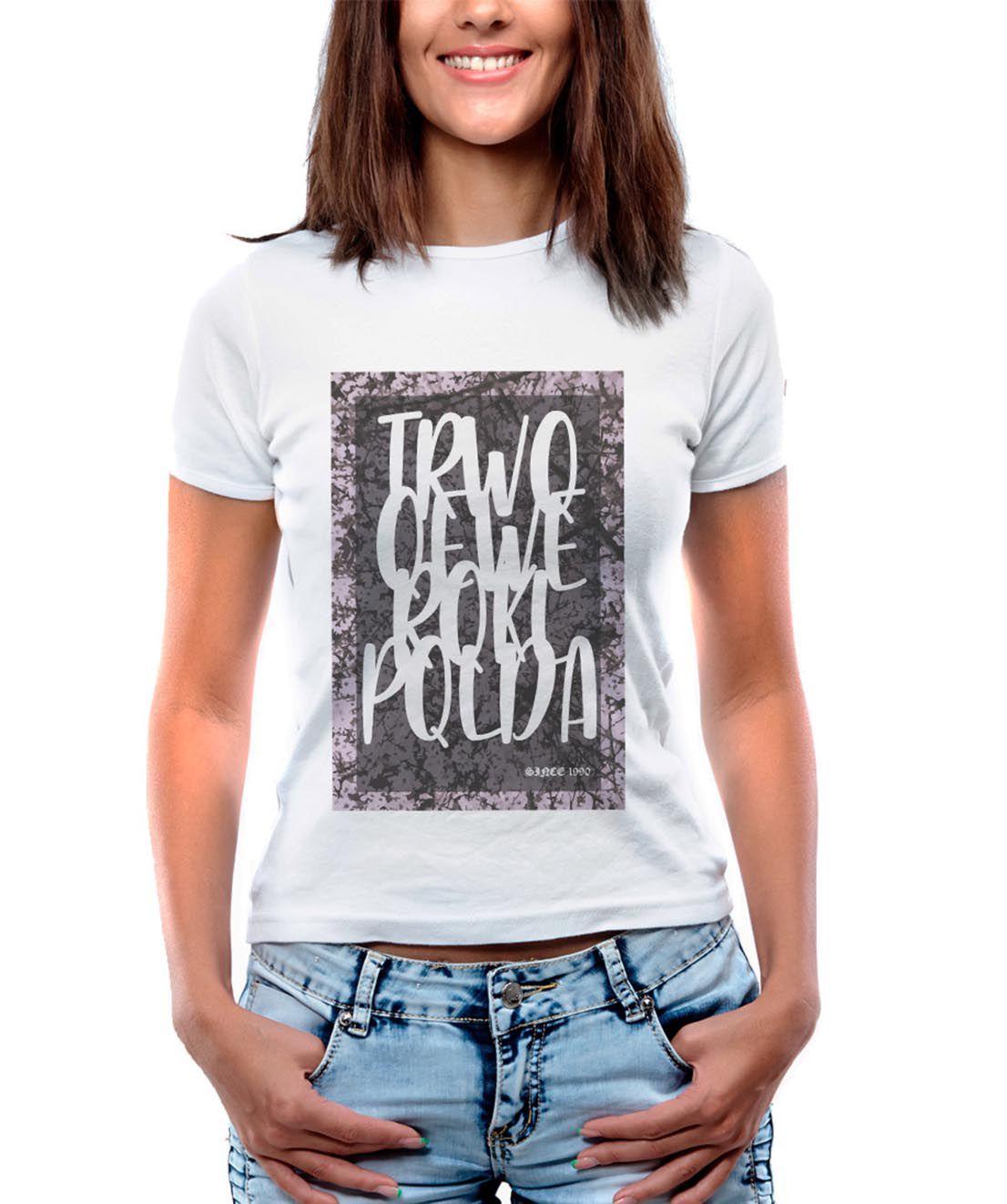 Blusa OutletDri T-Shirt Estampada Handwriting Board Branco