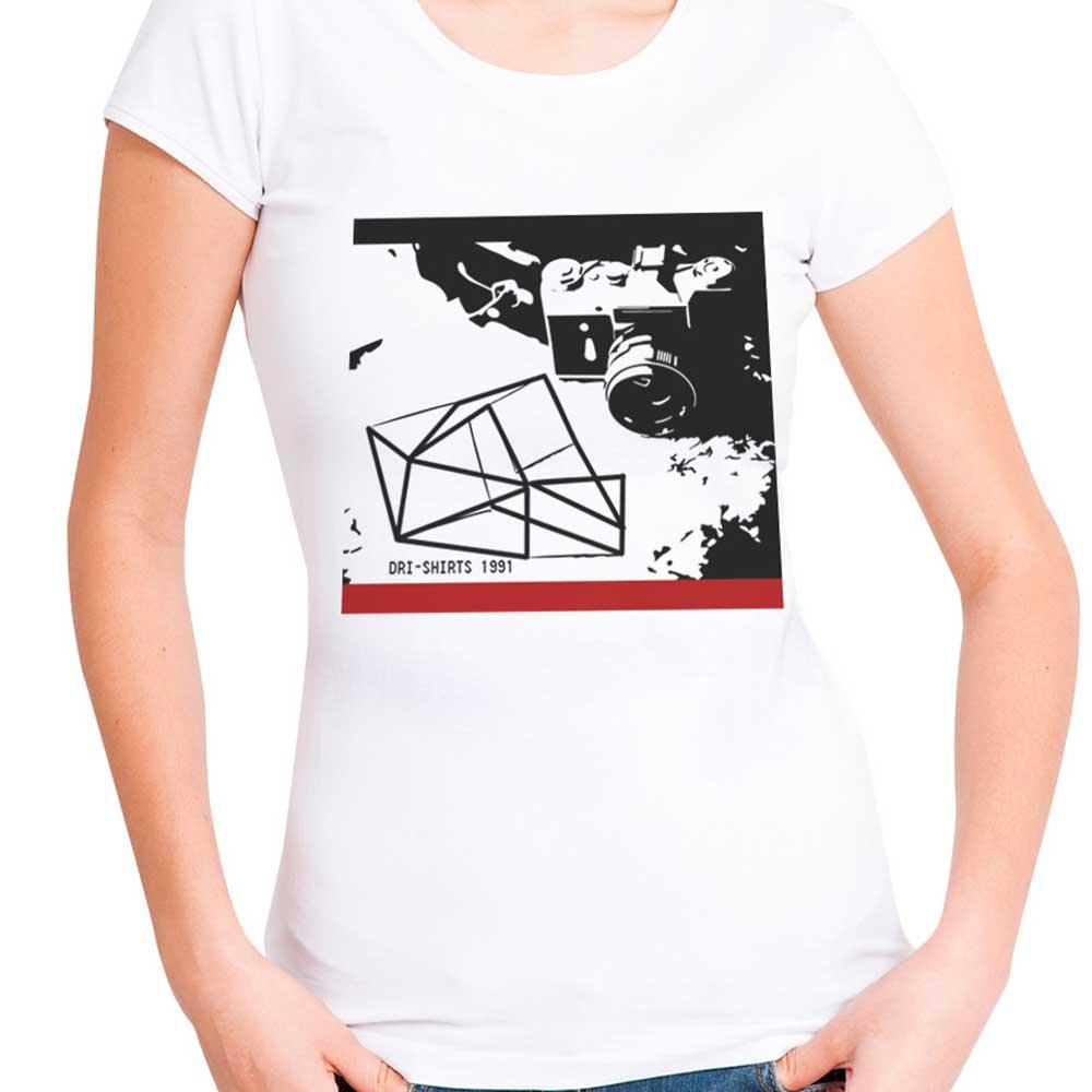 Blusa T-shirt Estampa Geo 3d Preto E Branco