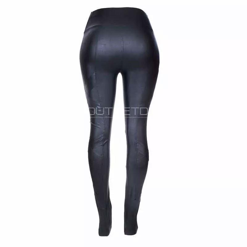 Calça Legging Hot Pants Detalhe Costura Lateral Relevo Cirre