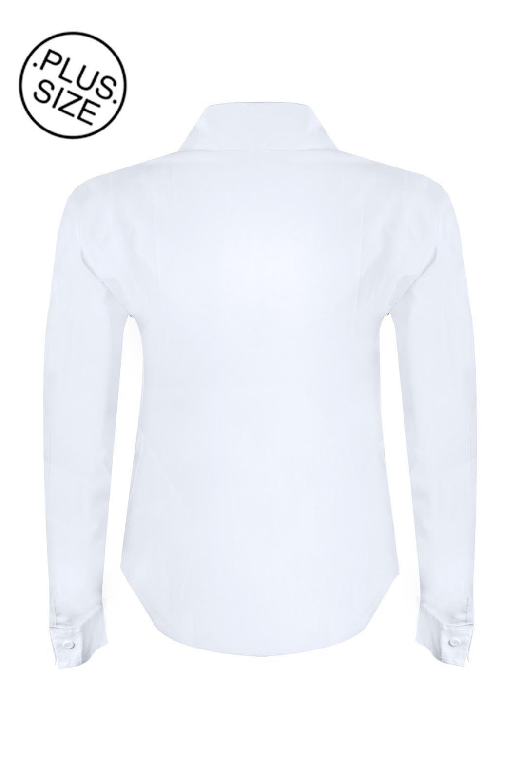 Camisete OutletDri Manga Longa Plus Size Branco