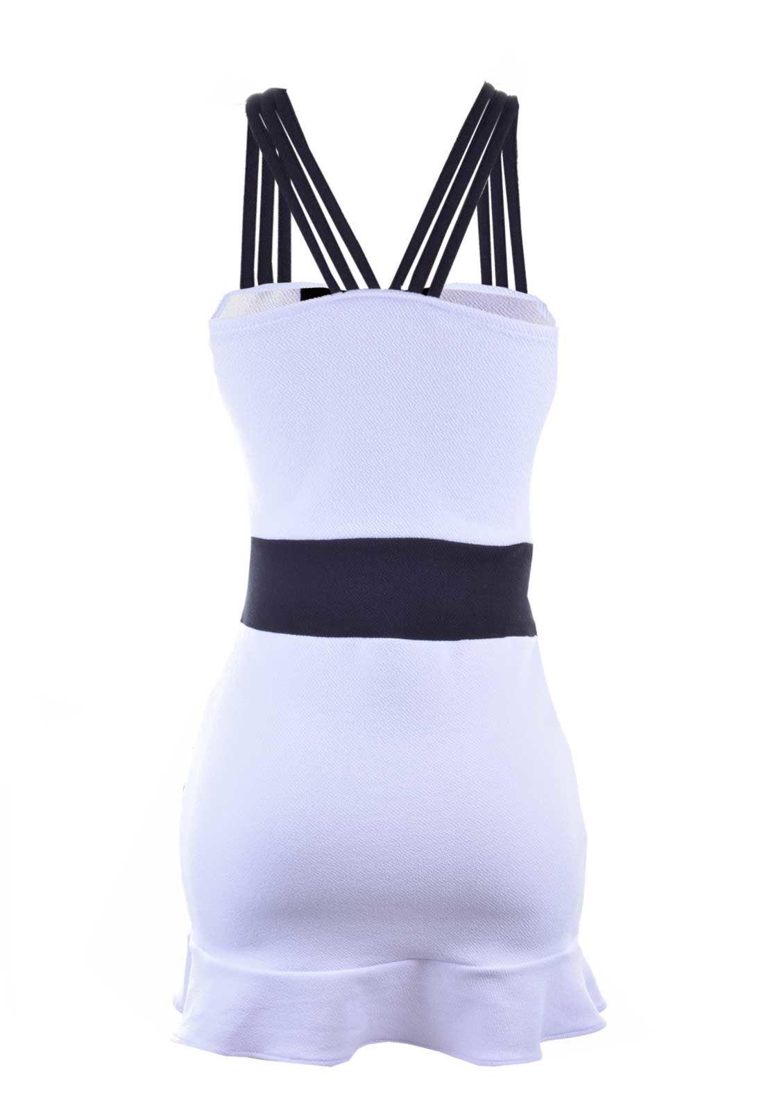 Vestido Curto Outletdri Casual 3D Branco