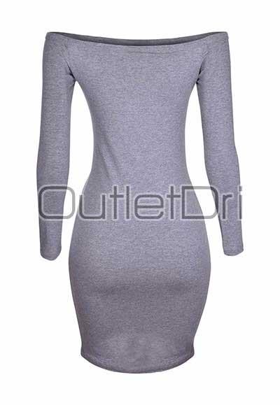 Vestido Feminino Curto Ombro A Ombro Ciganinha Manga Longa