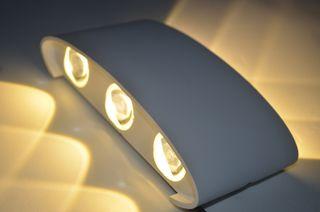 Arandela de LED 6 Lentes Convexas (Luz de Parede) IP66