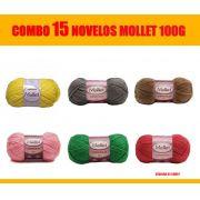 COMBO KIT 15 Cores lã Mollet 100g