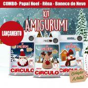 COMBO Com 3 Kit's Amigurumi Natal Círculo (Noel,Rena,Boneco)
