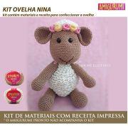 Kit Amigurumi Ovelha Nina - Materiais com Receita Impressa