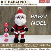Kit Amigurumi Papai Noel - Materiais com Receita Impressa